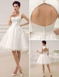 Short White Wedding Dresses Beach Short Wedding Dresses White Sweetheart Satin 2015 Sash