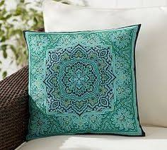 Outdoor Pillow Slipcovers Image Of Mina Victory Blue Conch 18 Inch Square Indoor Outdoor