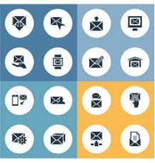 set of simple message icons royalty free vector image