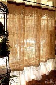 Country Rustic Curtains Bathroom Appealing Burlap Shower Curtain For Your Bathroom Decor