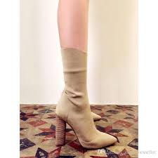 womens boots sales sale beige knit boots style pointed toe