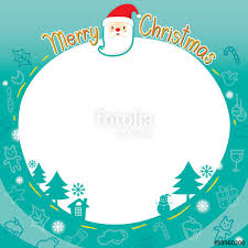outline ornaments border merry happy