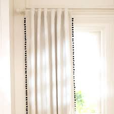 Curtains With Pom Poms Decor White Curtains With Pom Poms Decorating Mellanie Design