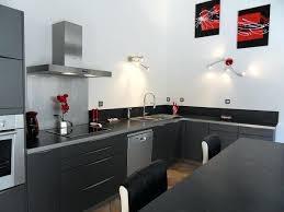 cuisine plan de travail gris cuisine grise plan de travail noir lzzy co