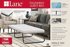 amazon com lane foldaway guest bed folding steel frame with gel