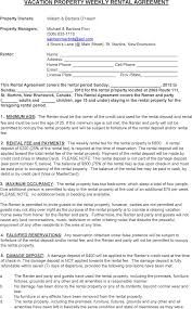 download new brunswick vacation property weekly rental agreement