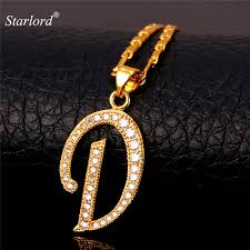aliexpress necklace pendants images Initial d letter pendants necklaces womenmen personalized gift jpg
