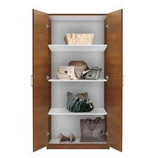 Wardrobe With Shelves by Alta Wardrobe Cabinet 3 Shelves Double Doors Contempo Space