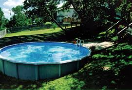 Backyard Above Ground Pool by Above Ground Pool In Sloped Backyard Ground Pools Backyard And