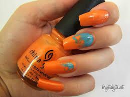 orange nail ideas