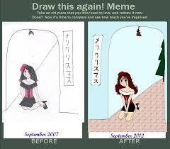 All Alone Meme - draw it again meme under the mistletoe all alone by