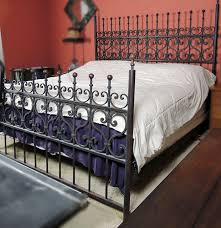 king size wrought iron bed u2014 derektime design romantic and