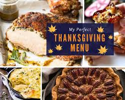 Example Of Main Dish Menu Easy Thanksgiving Menus Recipetin Eats