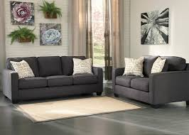 vintage casual queen sofa sleeper in charcoal