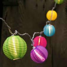 Patio String Lights White Cord by Set Of 10 Bright And Colorful Round Chinese Lantern Patio Lights