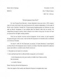 research paper about jose rizal did the katipunan frame rizal research paper