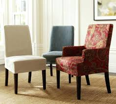 Dining Chair  Easy To Make Slipcovers For Chairs How To Make - Dining room chair slipcovers with arms