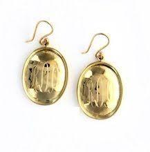 Gold Monogram Earrings Patina Gold Monogram Earrings Gold Monogrammed Earrings