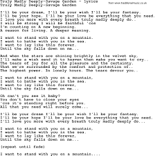 truly madly deeply song love lyrics for truly madly deeply music lyrics