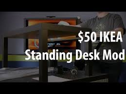Diy Stand Up Desk Ikea The 50 Ikea Standing Desk Mod