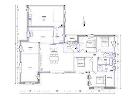 plan villa plain pied 4 chambres plan maison plain pied 4 chambres 150m2 plain pied
