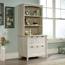 bookcase with file cabinet sauder costa 3 shelf file cabinet bookcase in chalked chestnut
