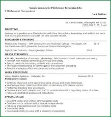 No Experience Phlebotomy Resume 5 Phlebotomy Resume Templates Applicationsformat Info