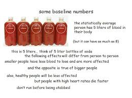 here are some scientific facts about blood loss for all you