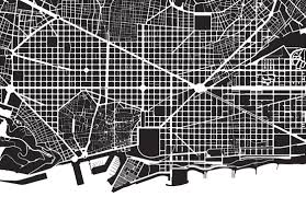 city grid when bilbao city map line art city map road by 1