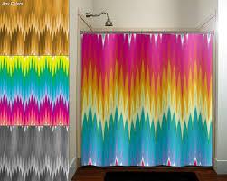 Multi Color Shower Curtains Shop Rainbow Colored Shower Curtains On Wanelo Rainbow Chevron