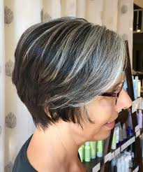 grey streaks in hair 60 gorgeous hairstyles for gray hair