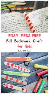 make this mess free fall bookmark craft for kids