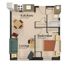 Small One Bedroom Apartment Floor Plans by One Bedroom Apartment Designs Home Design One Room Apartment Floor