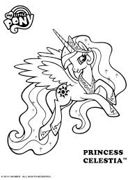 free pony princess celestia colouring