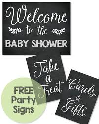 3 free printable chalkboard baby shower signs a welcome to the