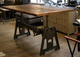 bureau design industriel table metal industriel manguier et mtal cm ypster with bureau