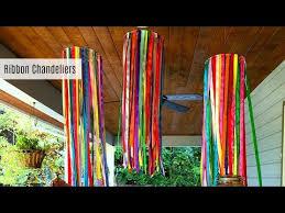 Streamer Chandelier Ribbon Chandeliers Diy Party Decor Youtube