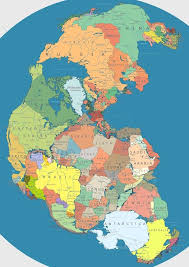 Geography Of The Ottoman Empire by Map Of Pangea With Current International Borders Geography