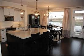 dark kitchen cabinets with antique white island 3427 home and