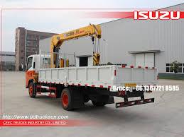5ton isuzu transportation telescopic boom crane trucks with wire