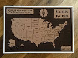 World Map Cork Board by Custom Cork Usa Map Us Map Push Pin Travel Map Map Usa