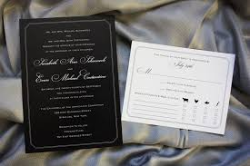 Expensive Wedding Invitations Formal Black With White Lettering And Border Wedding Invitations