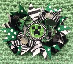 minecraft ribbon pin by vero on minecraft boutique hair bows