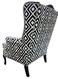 Zebra Dining Room Chairs Zebra Print Wing Chair Slipcover Animal Print Dining Room Chair