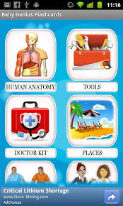 Human Anatomy Flashcards Genius Baby Flashcards 4 Kids Android Apps On Google Play
