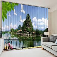 2017 high quality customize size curtain fashion window curtains