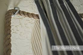 where to hang curtain rod the shabby nest an ingenious way to hang curtains