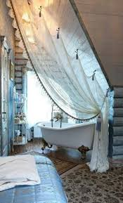 Hanging Curtain Rods From Ceiling Ideas How To Hang Curtains From A Slanted Ceiling Google Search