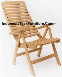 wood garden folding chair linda recliner indonesia teak furniture