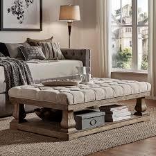 homesullivan segovia oatmeal pillowtop coffee table 40e302bl